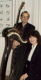 Maire Ni Chathasaigh & Chris Newman, photo by The Mollis