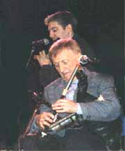 Paddy Moloney chief of the Chieftains(& Seamus Egan); photo by The Mollis